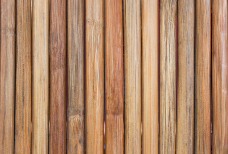 Closeup bamboo wall or bamboo fence texture for background