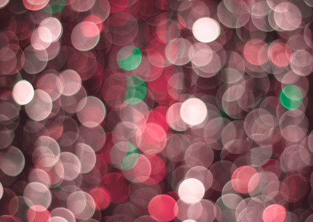 Red lights bokeh background