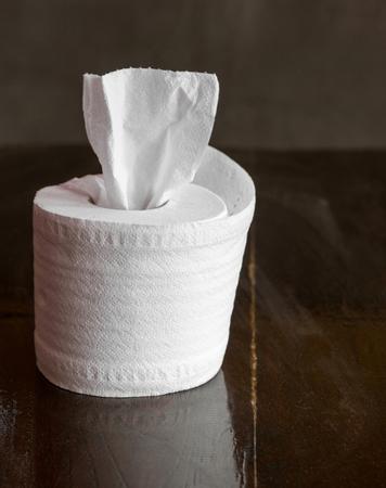 tissue roll on table Stockfoto