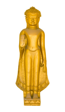 Buddha statue isolated on white with clipping path