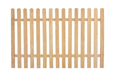 wooden fence isolated on white with clipping path