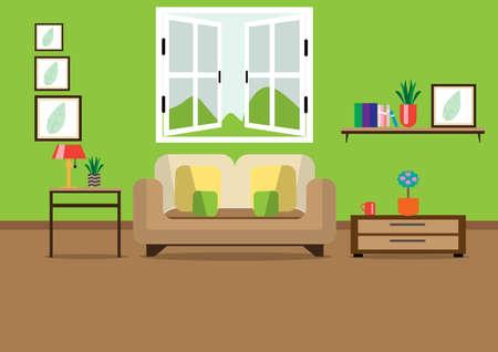 Diseño de sala de estar.