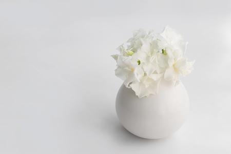 white flower bouquest in vasel