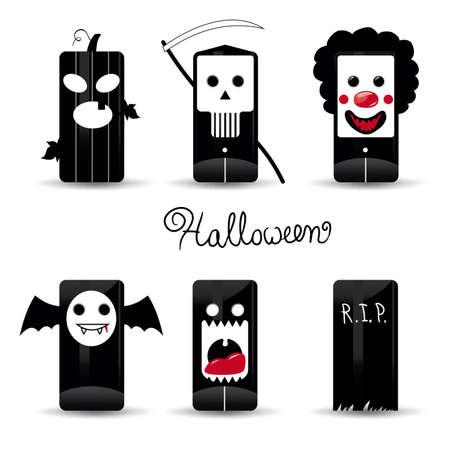Halloween  icons pack illustration