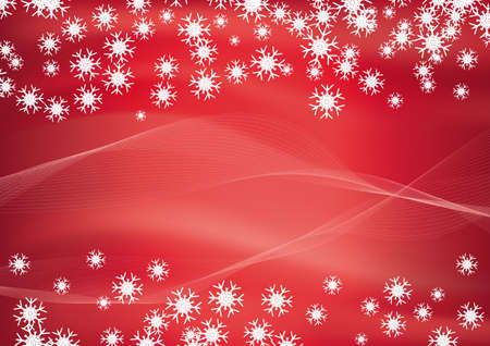 Christmas red background vector illustration Illustration