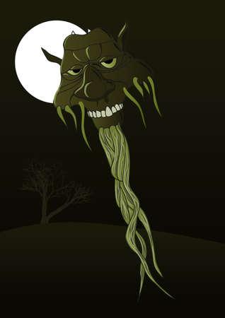 Monster head Illustration