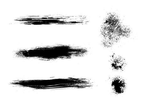 Splatter ink grunge elements  Good for brushes in  raster programs too