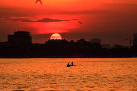Sunset on the West lake