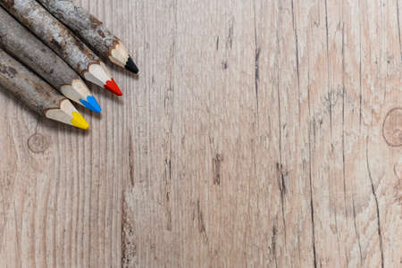 colored: Colored pencils, primary colors Stock Photo