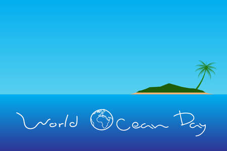 World ocean Day. 矢量图像
