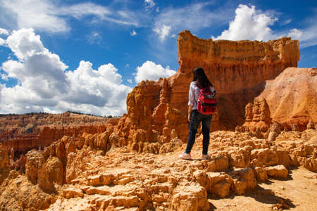 Hiking trip in Bryce Canyon National Park, Utah, USA