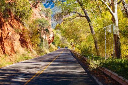 On the way to Sedona national park, California, Arizona, USA 版權商用圖片