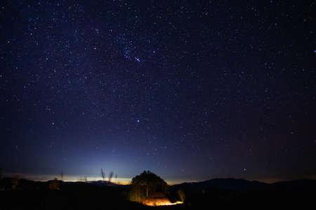 Étoiles la nuit, Chiang mai, Thaïlande Banque d'images