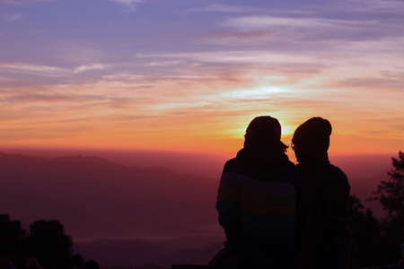 Romans o zachodzie słońca