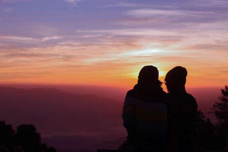 Romantiek bij zonsondergang