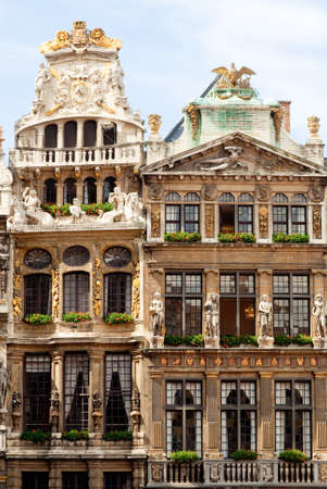 Baroque guild houses on Grande Place in Brussels Stockfoto