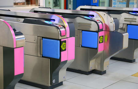 日本では自動改札