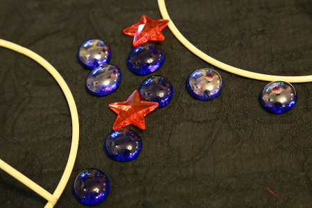 glass ornament: Circle and star-shaped glass ornament Stock Photo