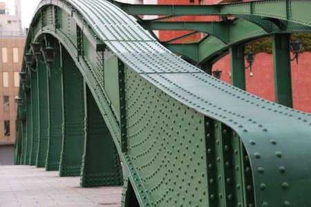 Green shape of curve bridge