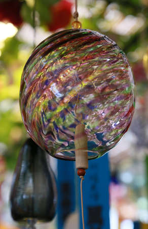 Japans colorful glass wind chimes