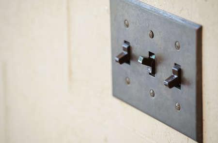 Interrupteur de la lumière du mur de la chambre Banque d'images