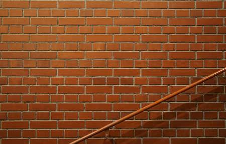 Brick wall and stair railing