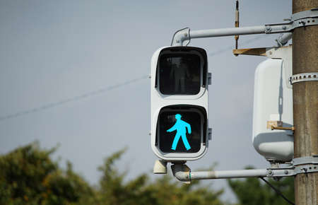 Pedestrian traffic lights in Japan Archivio Fotografico - 129540226