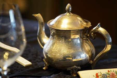 Silver Tea Pot 写真素材