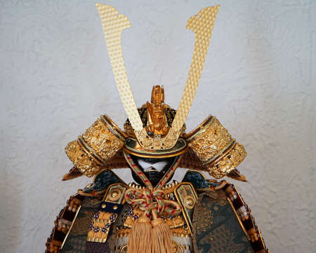 A helmet and armor of the Japanese traditional samurai of the old times 写真素材