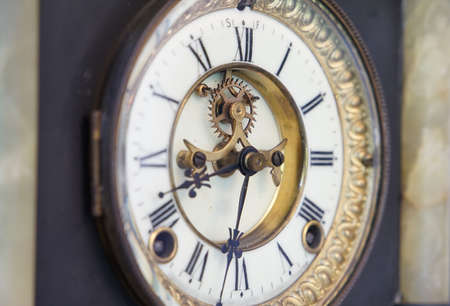 Clockface of the old table clock 写真素材