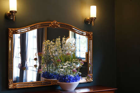 The flower which was displayed on the dressing table of the room