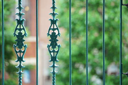 Design of the fence of the garden of the house 写真素材