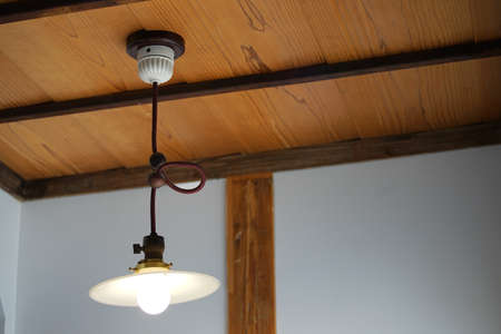 Light of the room hung by a ceiling