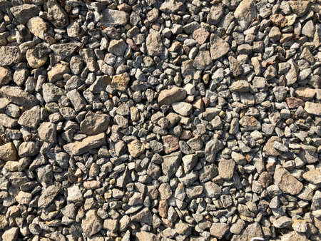 Background made of a close-up of a pile of crushed stone
