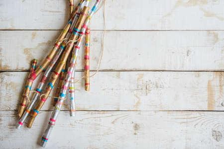 nailpolish: DIY colorful wood background for any holiday Stock Photo
