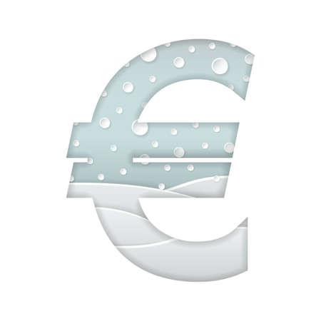 Euro symbol  イラスト・ベクター素材