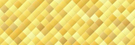 Shiny gold gradient color rhombus seamless pattern Vektorgrafik