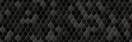 gold, black gradient color grid seamless pattern background, line geometric luxury texture, minimal design style, stock vector illustration panoramic backdrop for social media header, banner, link Illustration