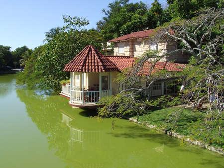varadero: House at the lake in Varadero beach in the Josone Park Stock Photo