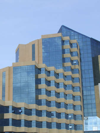 Modern hotel architecture, with panoramic windows photo