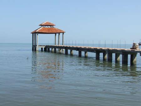 Beautiful dock in the sea photo