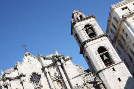 The Havanas Cathedral and its nearest building, Cuba photo