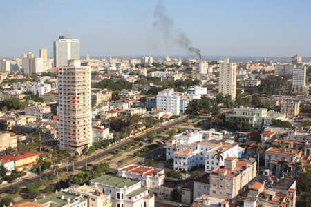 Havana view from a roof of tall building (IX) photo