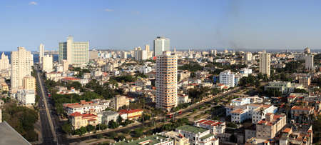 Havana City Panoramic view, taken from a 25 level building roof photo