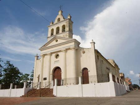 Old church with three bells in Santa Clara city, Cuba (I) photo