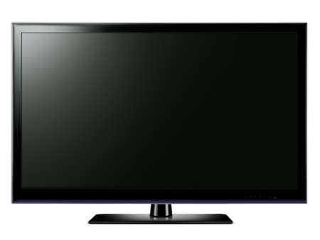 lcd tv: Widescreen LCD TV Stock Photo