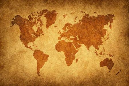 cartina africa: Mappa del mondo in schema d'epoca