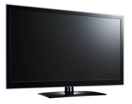 Moderne grand écran lcd tv surveiller  Banque d'images