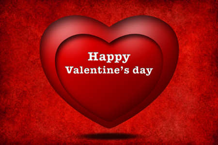 Happy valentine day with heart photo