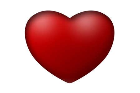Red heart 3D